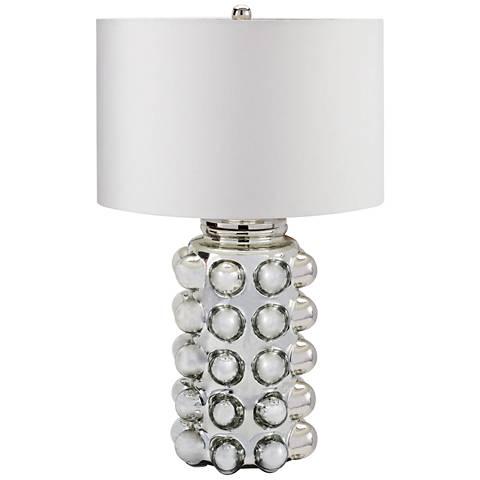 Lena Bubble Silver Mercury Glass Table Lamp