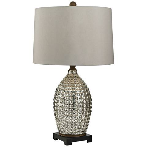 Milburn Hammered Silver Mercury Glass Table Lamp