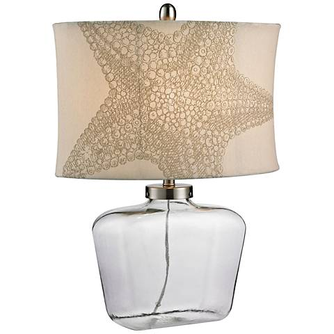 Paige Bottle Clear Glass Table Lamp