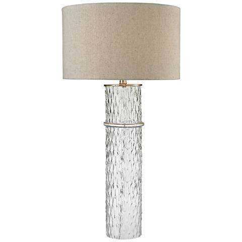 Charlotte Two Tier Clear Glass Table Lamp