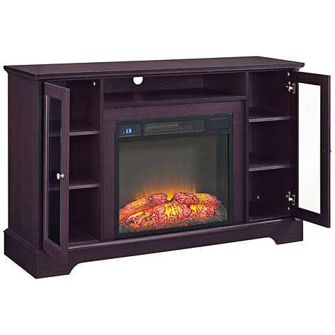 Iggy Espresso Electric Fireplace Television Cabinet