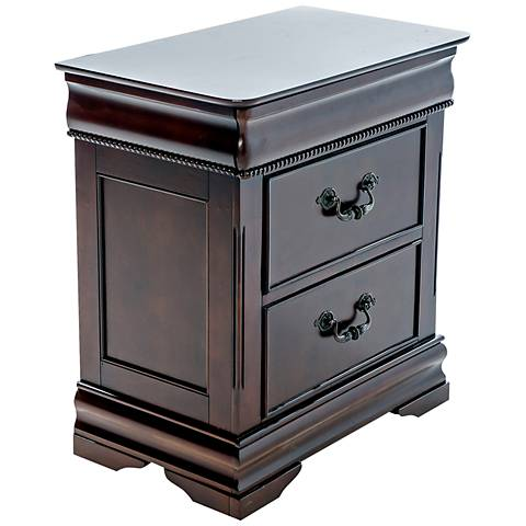 Highclere Castle Cherry 2-Drawer Traditional Nightstand