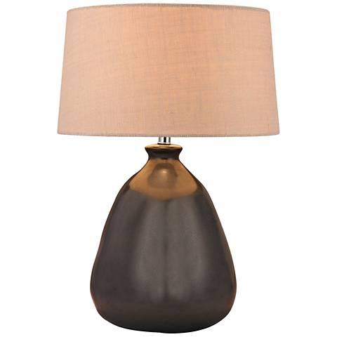 Mound Metallic Bronze Ceramic Table Lamp