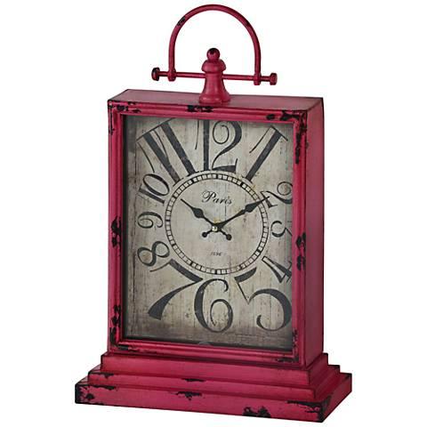 "Cooper Classics Cornelia 17 1/2""H Distressed Pink Clock"