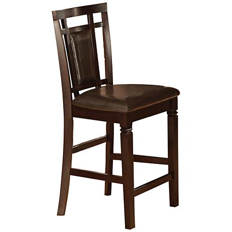 Hubert Coffee Bean Faux Leather Counter Chair