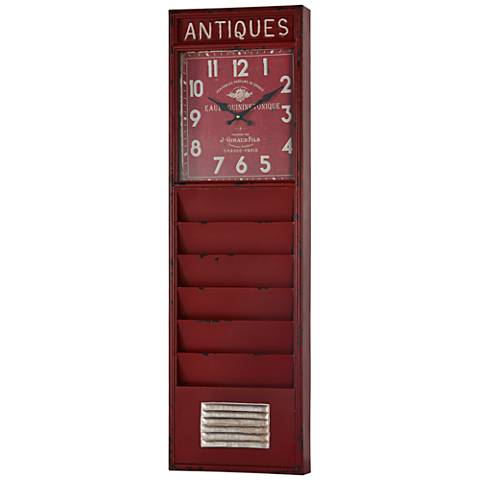 "Cooper Classics Wilmette Red 39"" High Wall Clock"