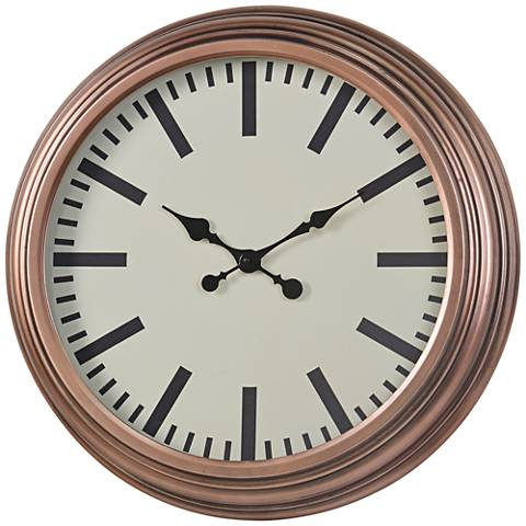 Wall Clocks At Lamps Plus : Cooper Classics Swanson Copper 22 3/4