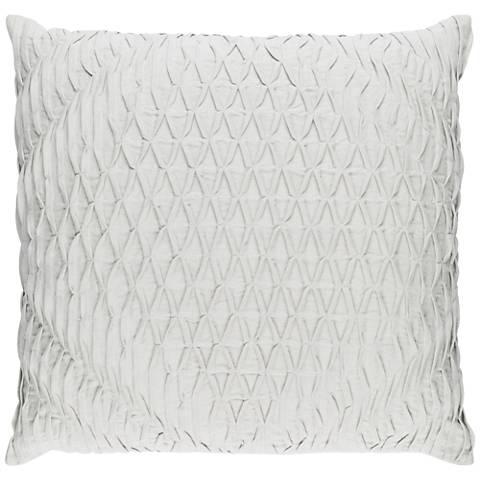 "Surya Baker Gray 18"" Square Throw Pillow"