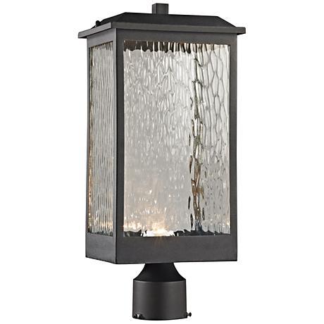 "Newcastle 19"" High Matte Black LED Outdoor Post Light"