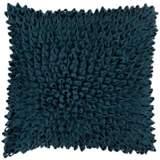 """Surya Dahlia Blue 18"""" Square Throw Pillow"""