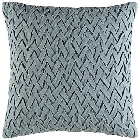 """Surya Facade Green 18"""" Square Throw Pillow"""