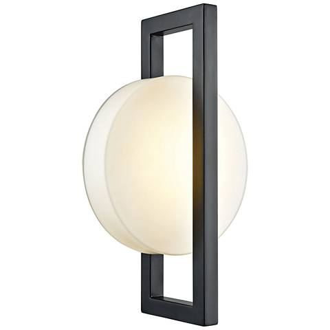 """Zulle 17"""" High Matte Black LED Outdoor Wall Light"""
