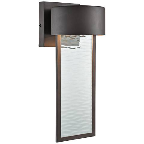 "Julius 13"" High Clay Bronze LED Outdoor Wall Light"