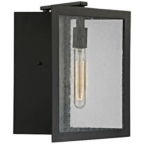 """Inverse 14"""" High Matte Black Outdoor Wall Light"""