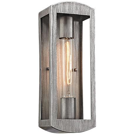 "Trenton 13"" High Silvery Ash Outdoor Wall Light"