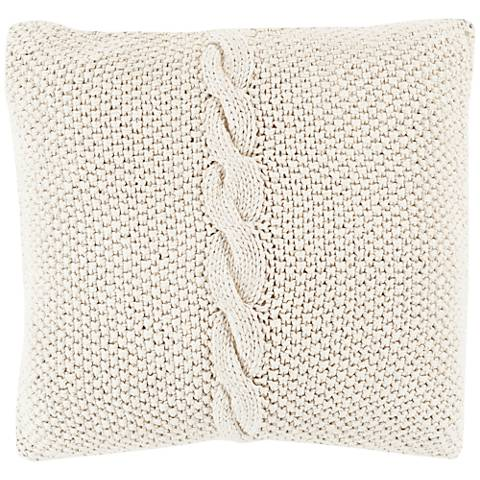 "Surya Genevieve Neutral 18"" Square Throw Pillow"