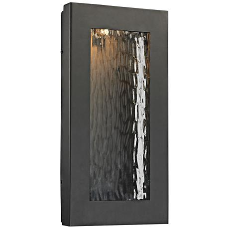 "Jeremy 16"" High Matte Black LED Outdoor Wall Light"