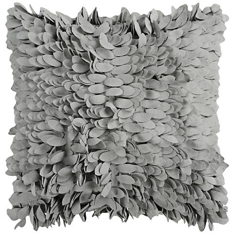 "Surya Claire Gray 18"" Square Throw Pillow"