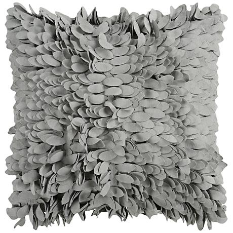 """Surya Claire Gray 18"""" Square Throw Pillow"""