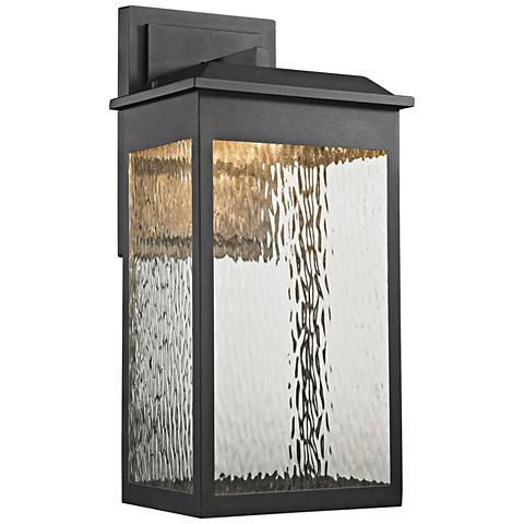 "Newcastle 22"" High Matte Black LED Outdoor Wall Light"