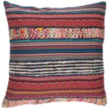 """Surya Marrakech Pink and Brown 20"""" Square Throw Pillow"""