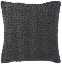 "Surya Velvet Luxe Gray 18"" Square Throw Pillow"