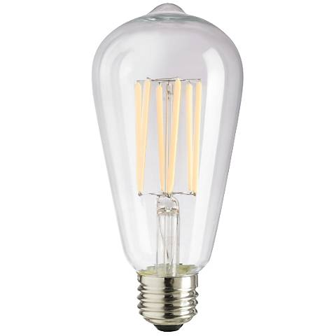 6 Watt Dimmable ST64 Filament E26 Base LED Light Bulb