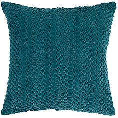 "Surya Velvet Luxe Striped Green 18"" Square Throw Pillow"
