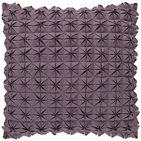 """Surya Structure Gray 20"""" Square Throw Pillow"""