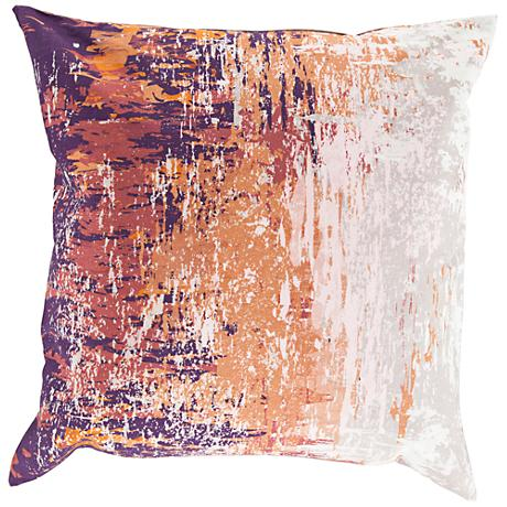 """Surya Serenade Orange and Red 20"""" Square Throw Pillow"""