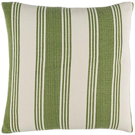 """Surya Anchor Bay Green and Neutral 18"""" Square Throw Pillow"""