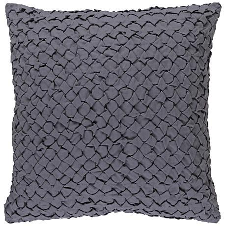 "Surya Ashlar Gray 18"" Square Throw Pillow"