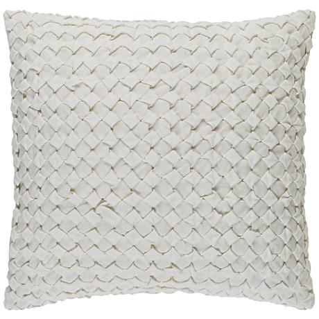 "Surya Ashlar Neutral 18"" Square Throw Pillow"