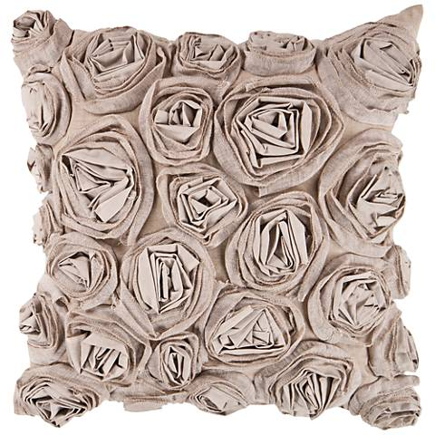 """Rustic Romance Brown and Neutral 18"""" Square Throw Pillow"""