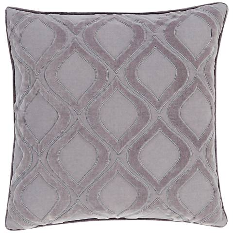 "Surya Alexandria Gray 18"" Square Throw Pillow"