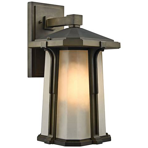 "Brighton 16"" High Smoked Bronze Outdoor Wall Light"
