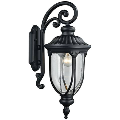 "Derry Hill 23"" High Matte Black Outdoor Wall Light"