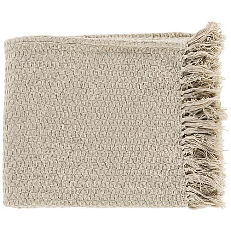 Surya Tressa Neutral Throw Blanket