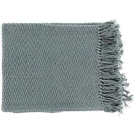 Surya Tressa Gray Throw Blanket