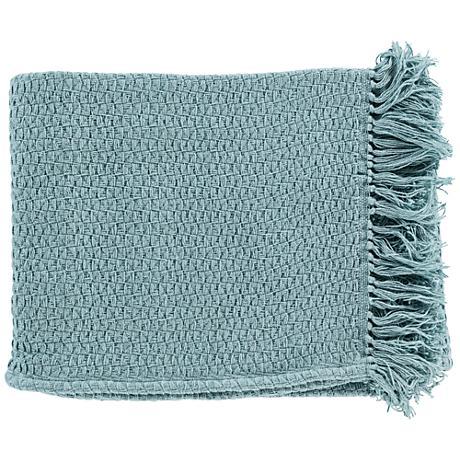 Surya Tressa Blue Throw Blanket
