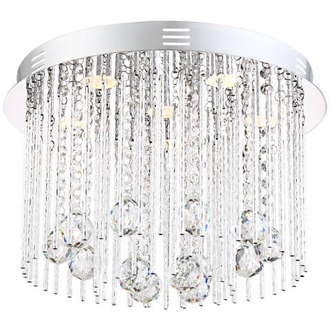 "Possini Euro Boyne 15 1/4"" Wide Crystal Ceiling Light"