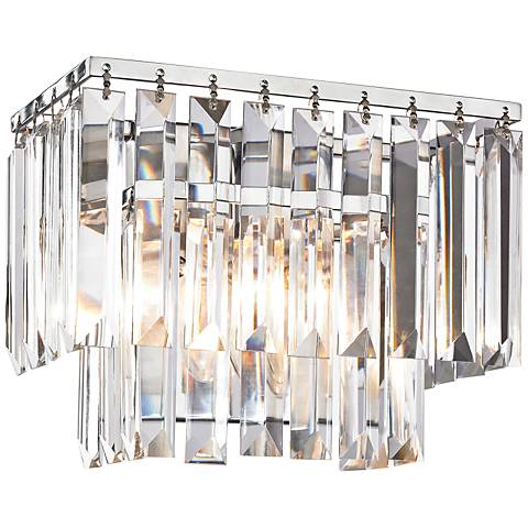"Palacial 10"" Wide Polished Chrome 1-Light Wall Sconce"