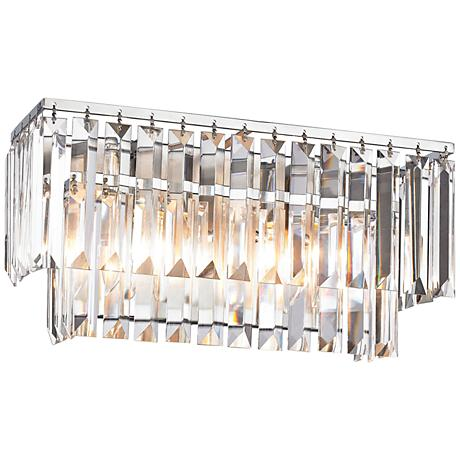 "Palacial 15"" Wide Polished Chrome 2-Light Bath Light"