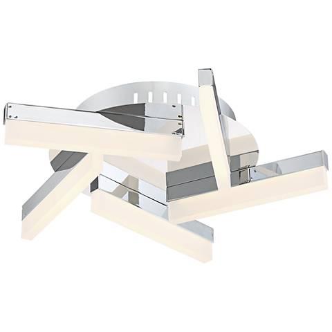 """Possini Euro Spiraling 15 1/4"""" Wide LED Chrome Ceiling Light"""