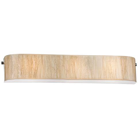 "Modern Organics 29"" Wide Chrome White Sawgrass Bath Light"