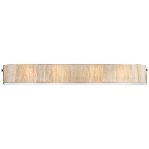 "Modern Organics 41"" Wide Chrome White Sawgrass Bath Light"