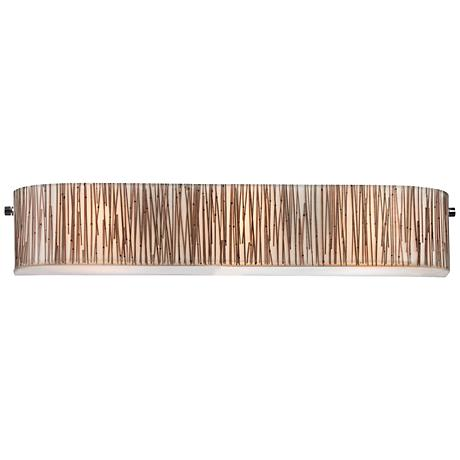 "Modern Organics 29"" Wide Chrome Bamboo Stems Bath Light"