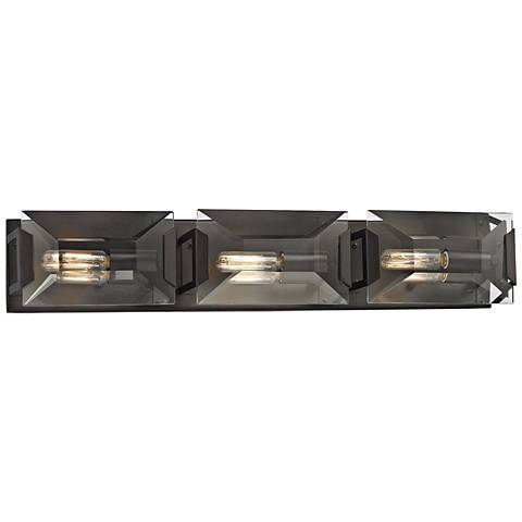 "Garrett 26"" Wide Oil Rubbed Bronze 3-Light Bath Light"