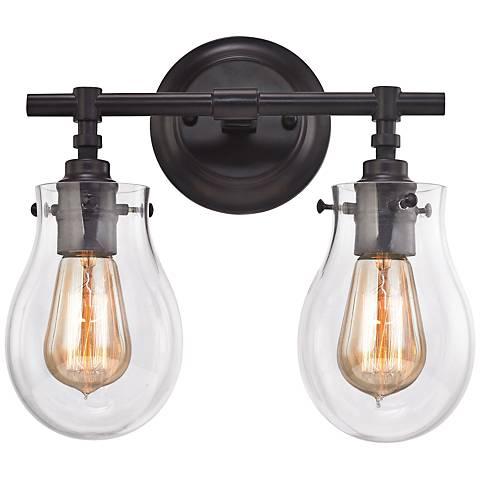 Jaelyn 13 Wide Oil Rubbed Bronze 2 Light Bath Light 9w117 Lamps Plus