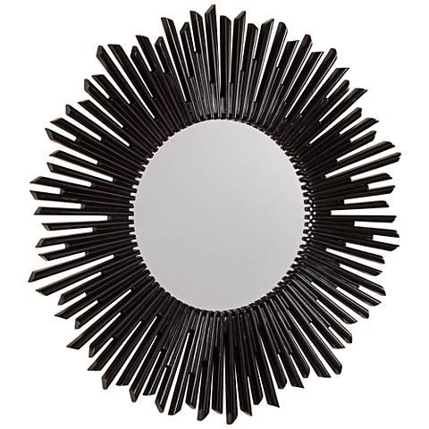 """Laurel Black 36"""" Round Wall Mirror"""
